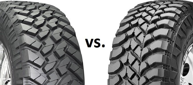 All-terrain vs mud tires