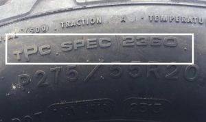 General Motors TPC spec code