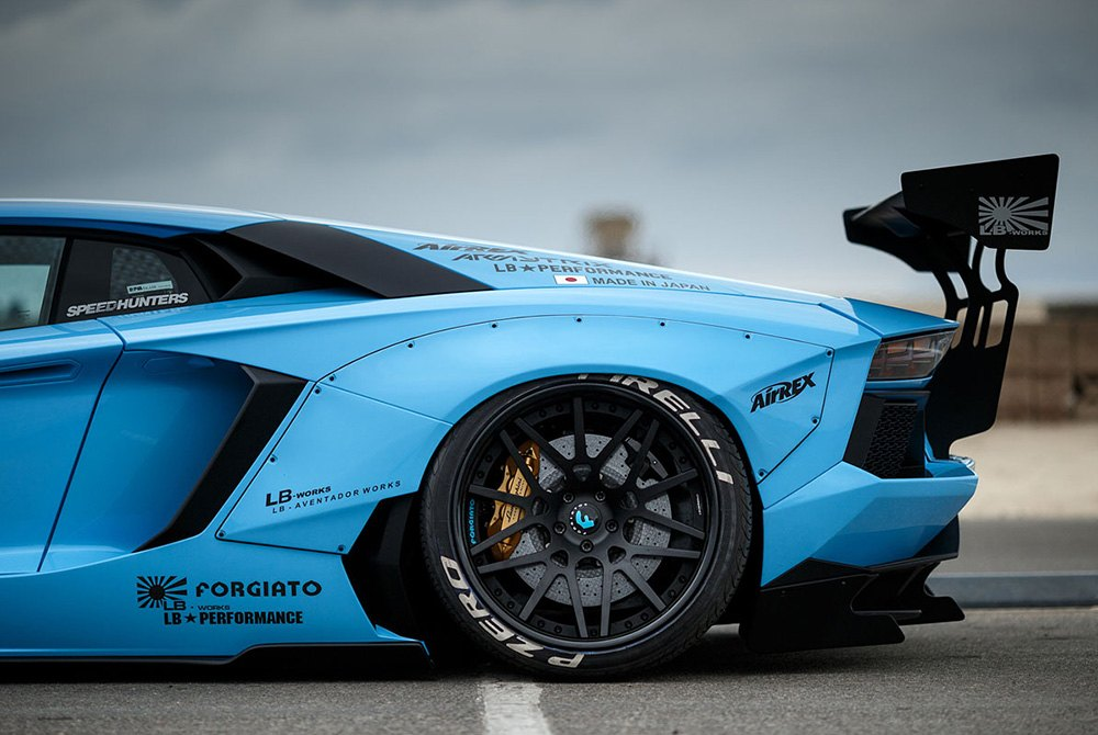 Pirelli P Zero tires on Lamborgini