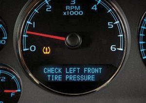 Tire pressure monitoring system alarm
