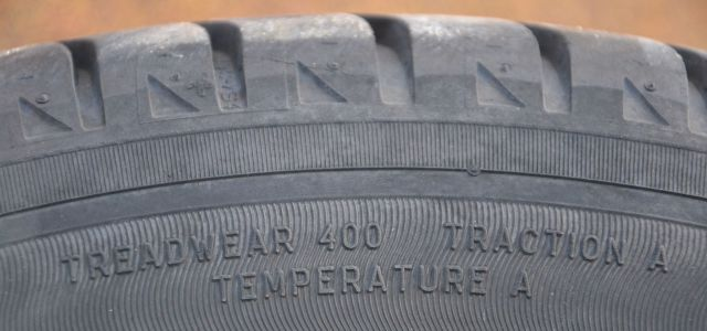 Utqg rating on a tire sidewall
