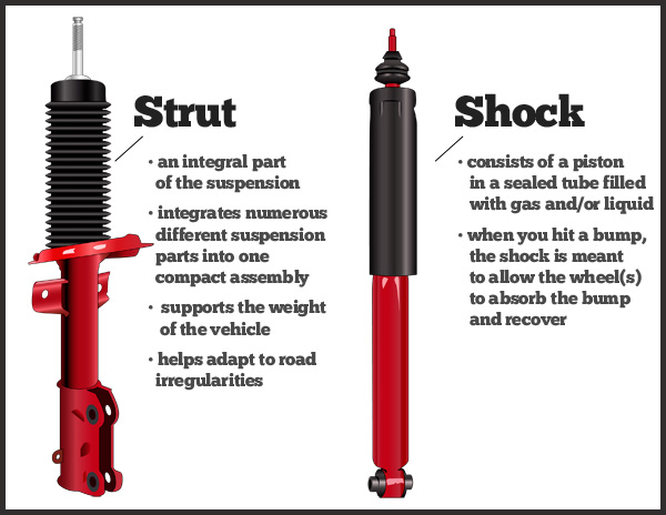 Strut and shock difference