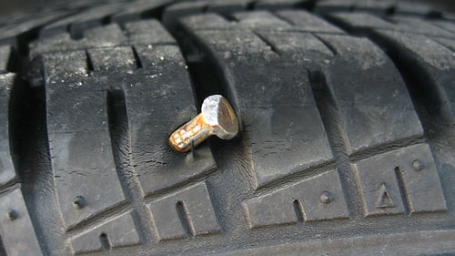 Nail in a tire