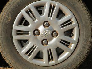 Tire sidewalls turned brown