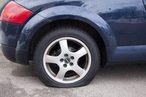 tire care - flat tire